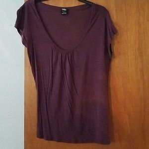 Deep Purple pleated neck top